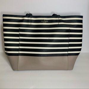 Kate Spade Black and White Striped Tote Purse